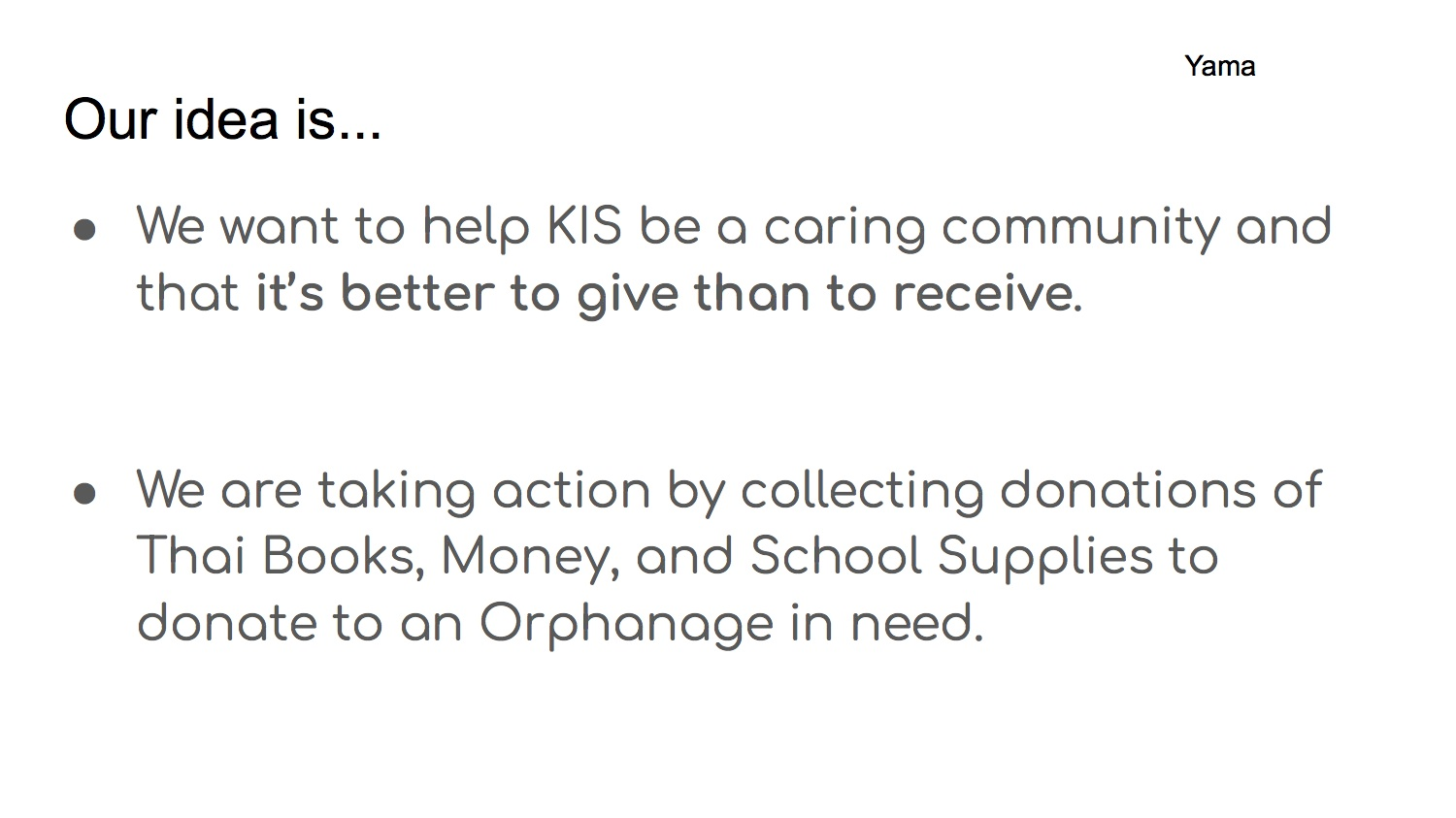 KIS CARES3 - For Homerooms