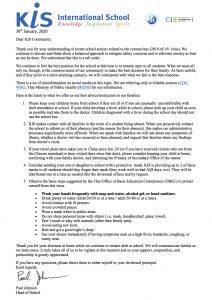 KIS Coronavirus Update, 30 January 20