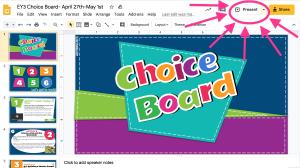 Week #32 Choice Board (Apr 27 - May 1)