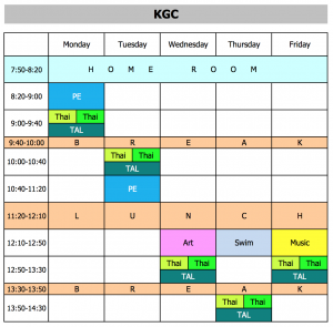 KGC schedule
