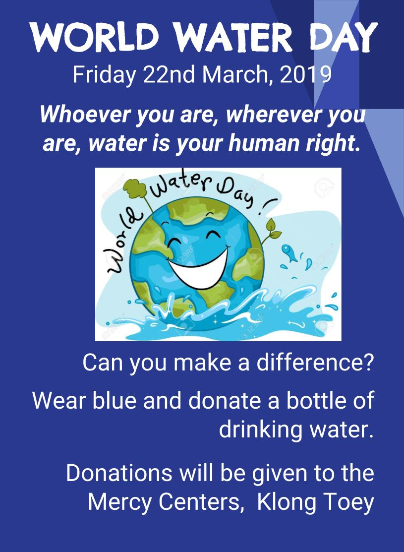 WORLD WATER DAY 2019 Friday 22nd March(1)
