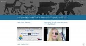 Global Read Aloud website for G3