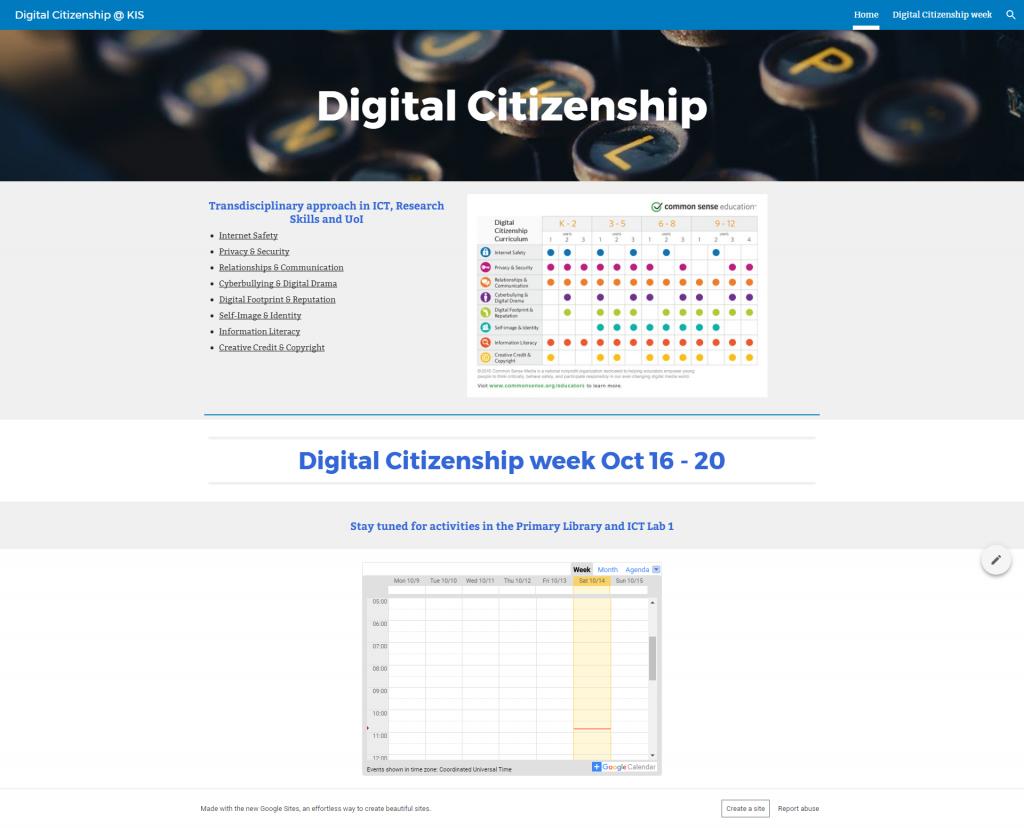 Digital Citizenship @ KIS