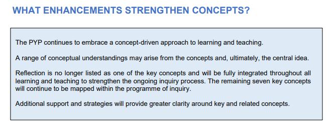 WHAT ENHANCEMENTS STRENGTHEN CONCEPTS?